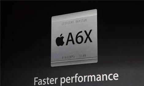 Chip A6X lõi kép với tốc độ nhanh hơn gấp 2 lần so với vi xử lý A5X