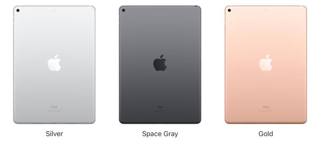 Apple iPad Air có 3 màu sắc cho khách hàng lựa chọn