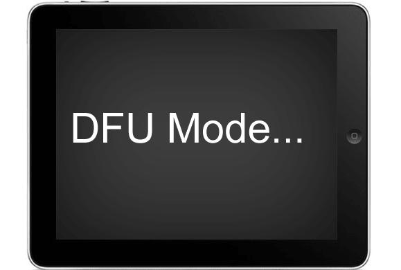 Trong trường hợp này, cần làm thêm một bước để đưa iPad về chế độ DEU